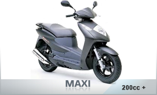 Scooters 200cc and above