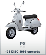PX 125 DISC 1999 ONWARDS