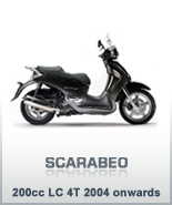Scarabeo 200cc LC 4T 2004 onwards