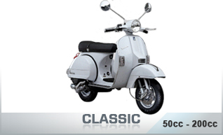 Classic Scooters 50cc - 200cc