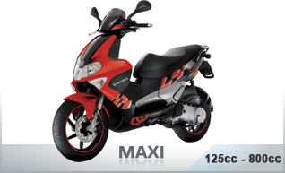 Scooters 125cc - 800cc