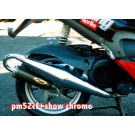 Aprilia SR/Piaggio Typhoon 125cc - 172cc X-Tech Chrome Expansion Chamber Exhaust