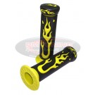 Capelli Yellow Flame Handlebar Grips