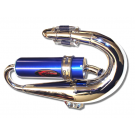 PM Tuning Evolution Chrome Expansion Chamber Exhaust - Vespa Small Frame / PK
