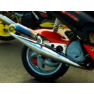 PM Tuning Gilera Runner/Italjet Dragster 125cc - 180cc X-Tech  Chrome Expansion Chamber Exhaust