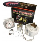 PM Tuning Aluminium X-Tech 70cc Cylinder Kit - Minarelli Horizontal 50cc Air Cooled