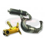 PM Tuning Gilera Runner/Italjet Dragster 125cc - 180cc Centre Exit X-Tech Expansion Chamber Exhaust With TSAB
